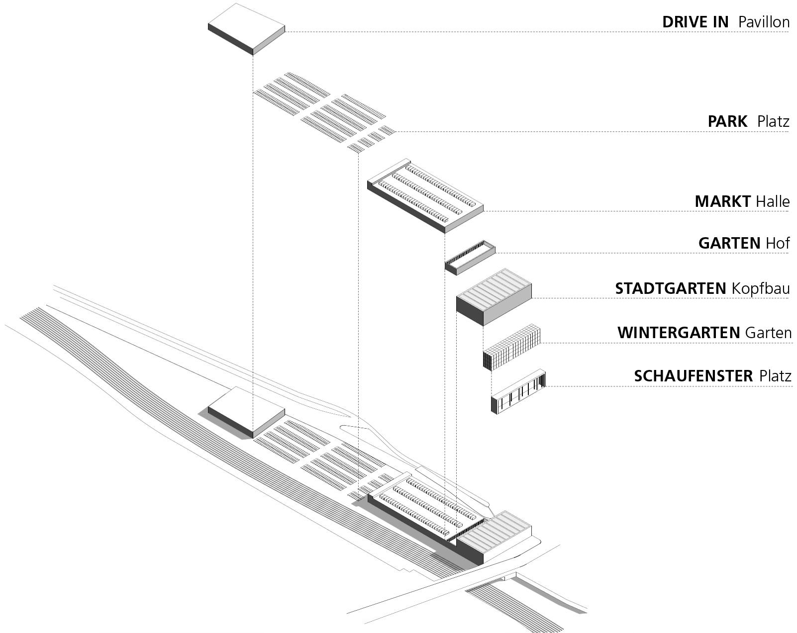 bauhaus berlin halensee fassade baumarkt drivein mller. Black Bedroom Furniture Sets. Home Design Ideas