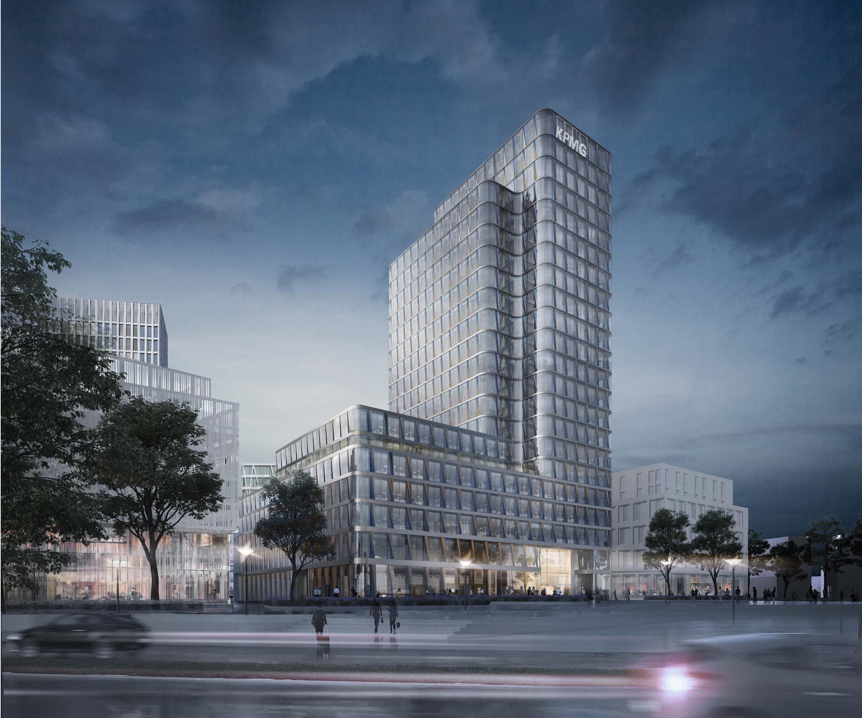 Wb bf4 hochhaus am europaplatz m ller reimann architekten for Europaplatz 4 darmstadt