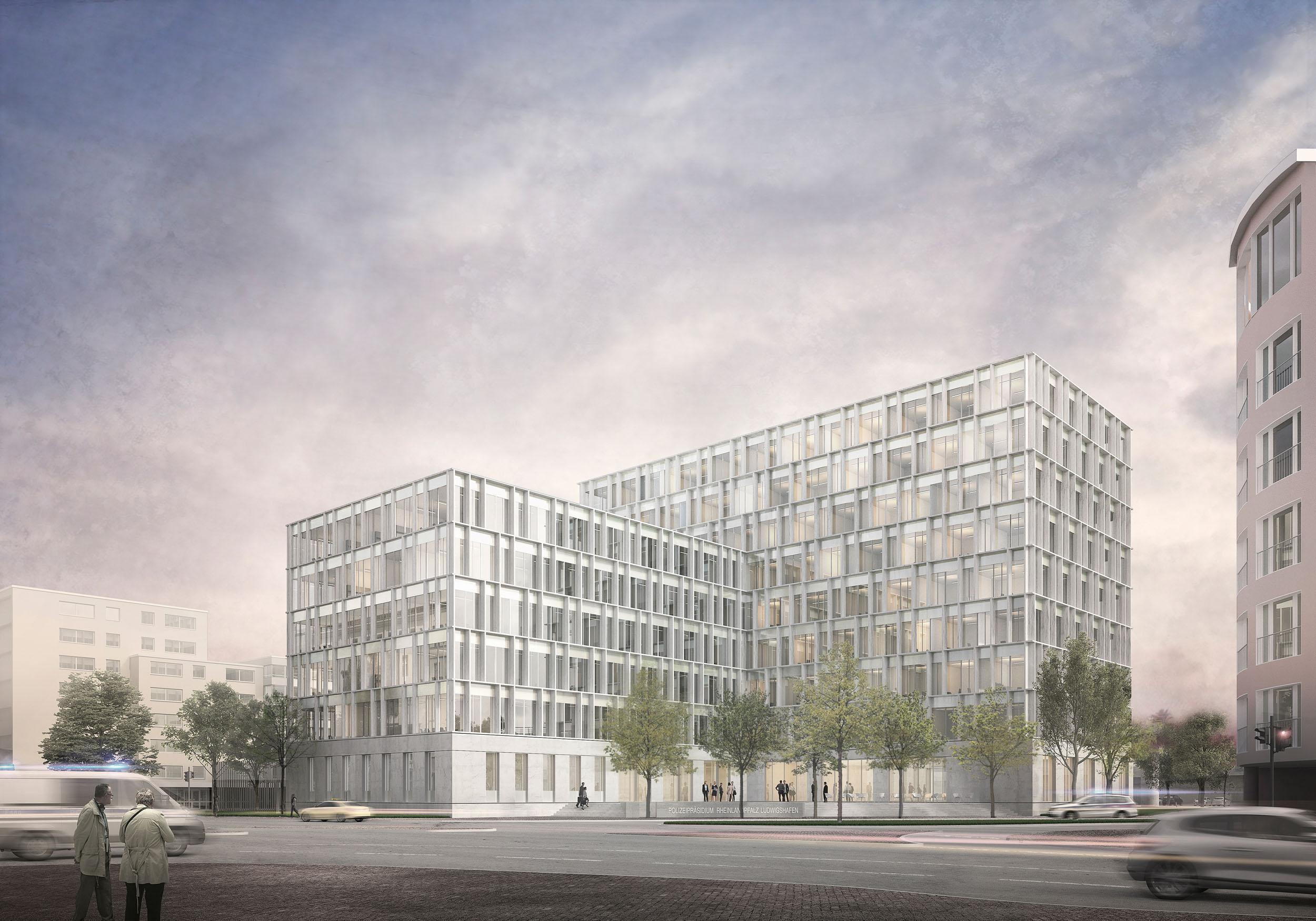 Architekten Ludwigshafen wettbewerb polizeipräsidium rheinpfalz in ludwigshafen müller